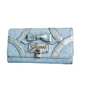 Guess wallet blue with lots of slots for cards
